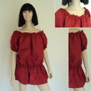 Red Renaissance Medieval Chemise